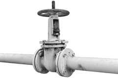 Rusted valve Stock Images