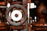 Rusted valve Royalty Free Stock Images