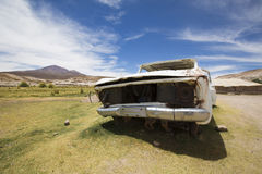 Rusted vehicle in the Altiplanos, Bolivia Royalty Free Stock Photography