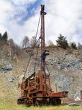 Rusted verließ Bergwerksmaschine Lizenzfreies Stockbild