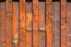 Rusted wall of the container Royalty Free Stock Photography