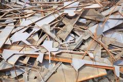 Rusted warf Metallstücke weg Stockfotografie