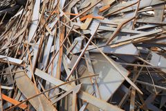 Rusted warf Metallstücke weg Stockfotos