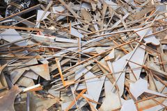 Rusted warf Metallstücke weg Lizenzfreies Stockfoto