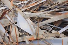 Rusted warf Metallstücke weg Lizenzfreie Stockfotografie