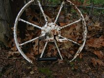 Rusted Wheel Royalty Free Stock Photography