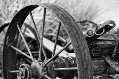 Rusted Wheel Grayscale Photo Stock Photography