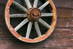 Rusted wheel in Latvia in Sabile town. Rusted wheel in Latvian Sabile town in Zviedru cepure. In winter here's skiing track. But in summer here's summer Royalty Free Stock Images