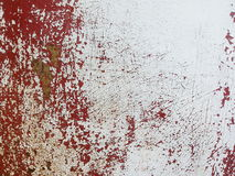 Rusted white metal wall cracks texture background Stock Image