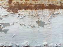 Rusted white painted metal wall Stock Photography