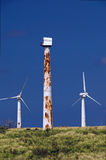 Rusted wind turbines Royalty Free Stock Image