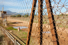 Rusted wire netting Stock Photography