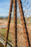 Rusted wire netting Stock Photos