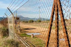 Rusted wire netting. In industrial place Royalty Free Stock Photos