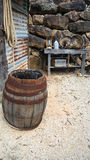 Rusted wooden barrel Royalty Free Stock Image