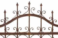 Rusted wrought iron fence Royalty Free Stock Images