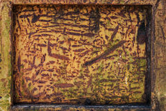 Rusted yellow metal Royalty Free Stock Photos