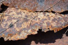 Rusted zinc roof royalty free stock image