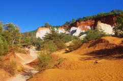 Rustel ocre rocks Royalty Free Stock Images