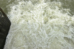 Rusteloos Water royalty-vrije stock afbeelding