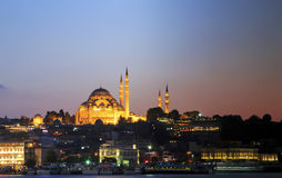 Rustem pasha mosque at night,Istanbul,Turkey. Stock Photos