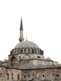 Rustempasa Mosque, isolated, Istanbul, Turkey. Perfectly isolated from sky, the mosque is famous with interior tiles Stock Image