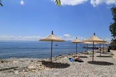Rustend gebiedsmeer van Ohrid Royalty-vrije Stock Afbeeldingen