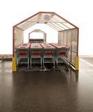 Rustende boodschappenwagentjes Stock Foto's