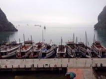 Rustende boten Stock Foto