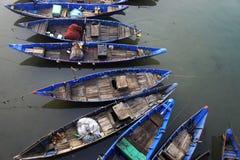 Rustende boten Royalty-vrije Stock Foto's