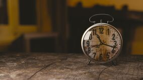 Rustic alarm clock Royalty Free Stock Image