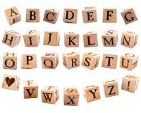 Rustic Alphabet Blocks #1 stock photography