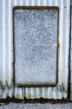 Rustic aluminium door Royalty Free Stock Image
