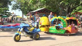 Rustic Amusement Park in a Cuban Carnival Royalty Free Stock Photography