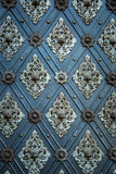 Rustic ancient doors pattern medieval repetitive ornaments Stock Photo