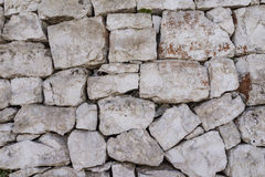 Rustic ancient handcraft tile stack stone wall as background in Stock Image