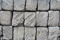 Rustic ancient handcraft tile stack stone wall in Matera, italy.  Stock Images