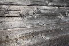 Rustic ancient log wall Royalty Free Stock Photo
