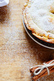 Rustic apple pie with cinnamon Royalty Free Stock Photos