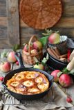 Rustic apples pie Stock Image