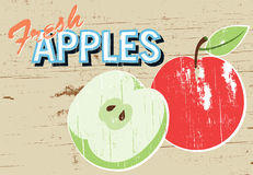 Rustic Apples Sign Stock Photography