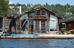 Artists Rustic houseboat Royalty Free Stock Images