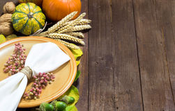 Rustic autumn table setting Royalty Free Stock Photography