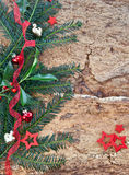 Rustic background for christmas Stock Photography