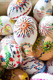 Rustic background with group of easter eggs Royalty Free Stock Photography