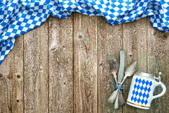 Rustic background for Oktoberfest Royalty Free Stock Image