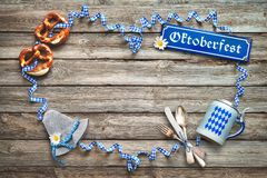 Rustic background for Oktoberfest Royalty Free Stock Photos