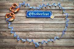 Rustic background for Oktoberfest Stock Photos