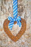 Rustic background with white and blue ribbon Royalty Free Stock Photos