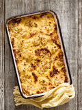 Rustic baked cauliflower cheese Stock Images